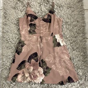 Floral patterned blush dress